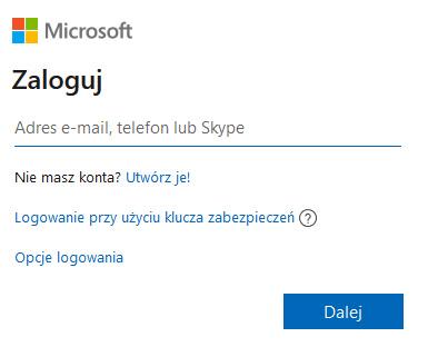 Poczta Hotmail - Outlook logowanie