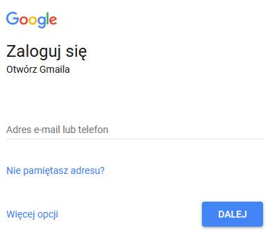 Poczta Gmail logowanie