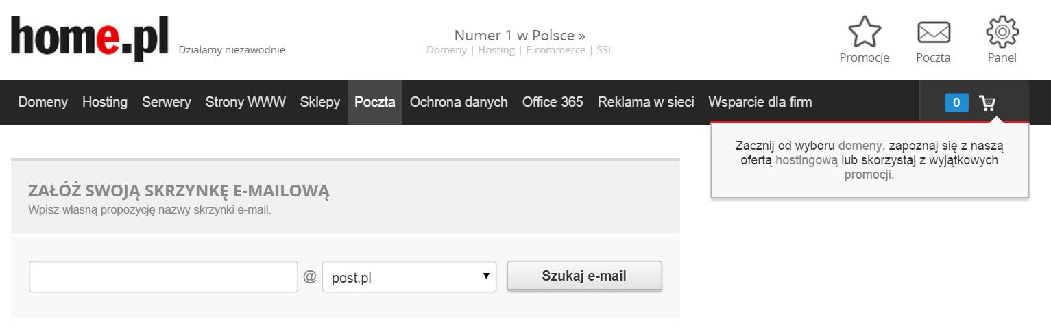 Poczta Home rejestracja